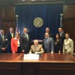 "Gov. Nathan Deal signs the ""Child Abuse Records Protection Act."""